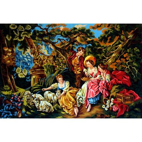 """Канва/ткань с нанесенным рисунком Gobelin-L """"Летом в саду"""""""