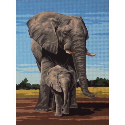 "Канва/ткань с нанесенным рисунком Gobelin-L ""Слоны"""