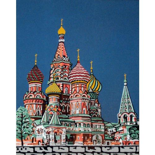 """Канва/ткань с нанесенным рисунком Gobelin-L """"Собор Василия Блаженного"""""""
