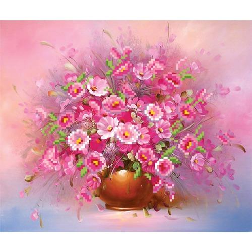 "Канва/ткань с нанесенным рисунком Матрёнин посад ""Розовые анемоны"""