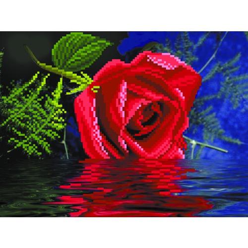 "Канва/ткань с нанесенным рисунком Матрёнин посад ""Роза"""