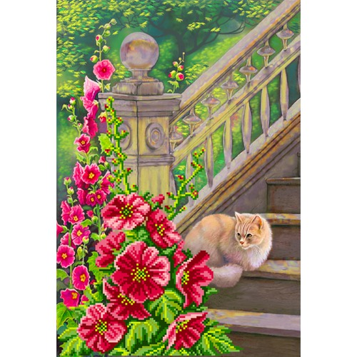 "Канва/ткань с нанесенным рисунком Матрёнин посад ""Мальва"""