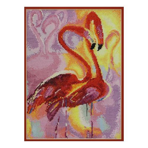 """Набор для вышивания крестом Марья искусница """"Розовые фламинго"""""""