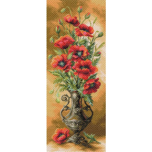 """Канва/ткань с нанесенным рисунком Матрёнин посад """"Пылающие маки"""""""