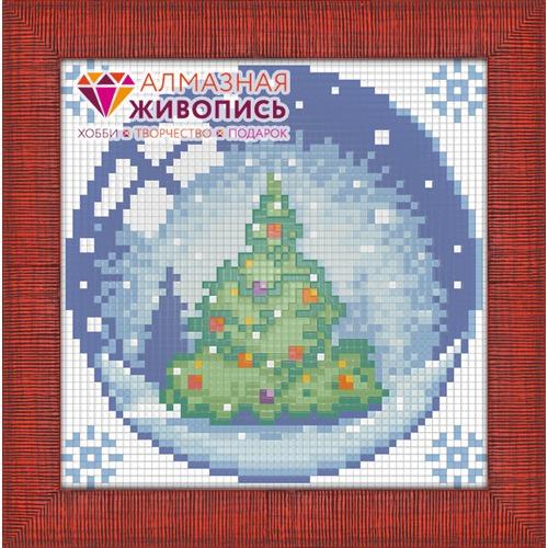"""Набор для выкладывания мозаики Алмазная живопись """"Новогодний шарик с елкой"""""""