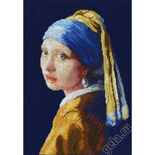 """Набор для вышивания крестом Марья искусница """"Девушка с жемчужной серьгой"""""""