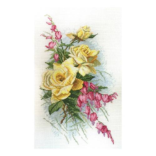 """Набор для вышивания крестом Марья искусница """"Розы и дицентра (К. Кляйн)"""""""
