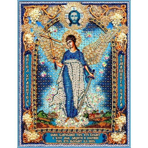 """Набор для вышивания хрустальными бусинами Образа в каменьях """"Ангел Хранитель домашнего очага"""""""
