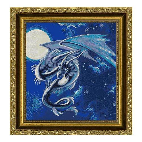 """Набор для вышивания крестом Kustom Krafts Inc. """"Лунный дракон"""""""