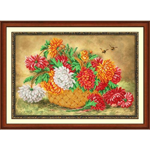 """Набор для вышивания бисером Паутинка """"Пушистые хризантемы"""""""