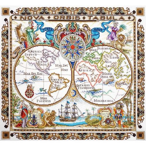 """Набор для вышивания крестом Марья искусница """"Карта мира"""""""
