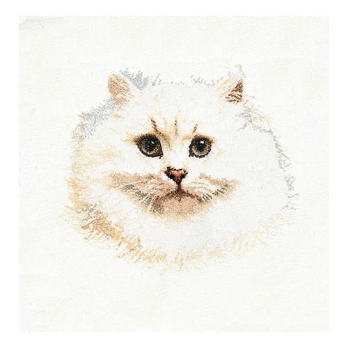"""Набор для вышивания крестом Thea Gouverneur """"Белый персидский кот"""" (фото)"""