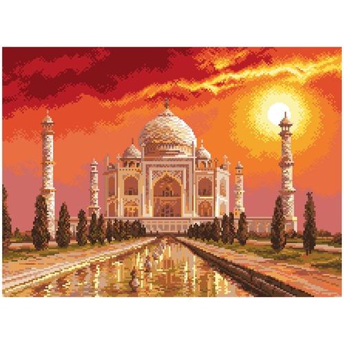 """Канва/ткань с нанесенным рисунком Матрёнин посад """"Тадж-Махал в Индии"""""""