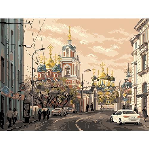 "Канва/ткань с нанесенным рисунком Матрёнин посад ""Москва, ул. Варварка"""