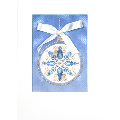 """Набор для вышивания Матрёнин посад Открытка """"Снежный узор"""""""