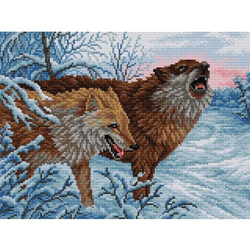 """Набор для выкладывания мозаики Вышиваем бисером """"Волки"""""""