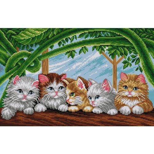 """Набор для выкладывания мозаики Вышиваем бисером """"Котики"""""""