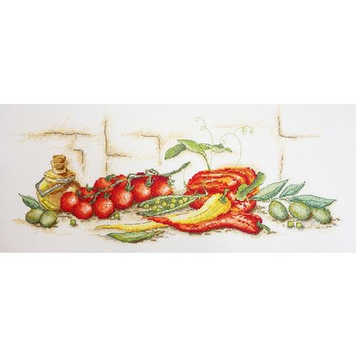 """Набор для вышивания крестом Марья искусница """"Помидоры, перец и оливки"""""""