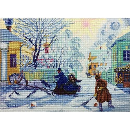 """Набор для вышивания крестом Марья искусница """"Морозный день (Б. Кустодиев)"""""""