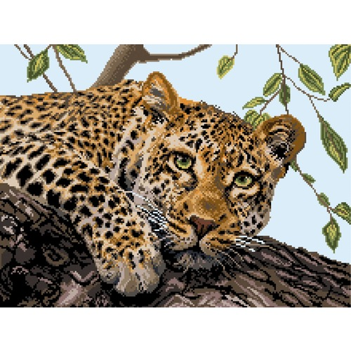 "Канва/ткань с нанесенным рисунком Матрёнин посад ""Леопард"" (фото)"
