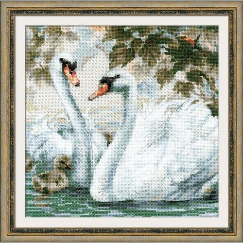 """Набор для вышивания крестом Риолис """"Белые лебеди"""" (фото)"""
