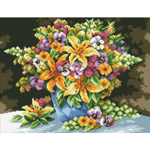 """Набор для выкладывания мозаики Паутинка """"Букет с лилиями"""""""