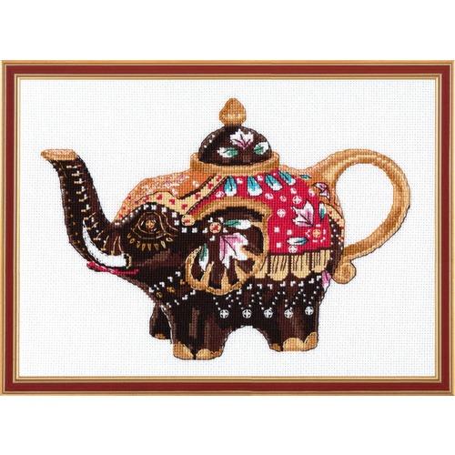 """Набор для вышивания крестом Овен """"Чайный слоник"""""""