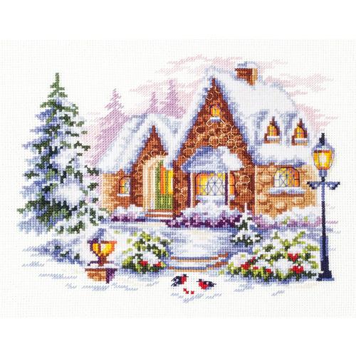 """Набор для вышивания крестом Чудесная игла """"Зимний домик"""" (фото)"""
