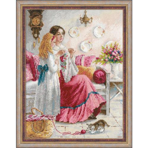 """Набор для вышивания крестом Риолис """"Уроки вышивки"""" (фото)"""