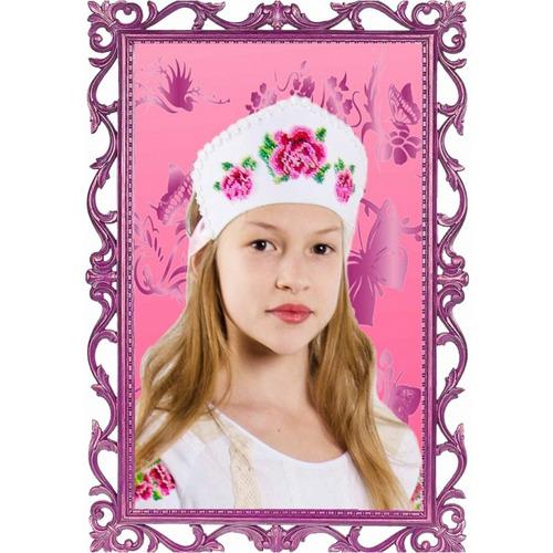 """Набор для вышивания Каролинка и шитья кокошника """"Розовый цвет"""""""