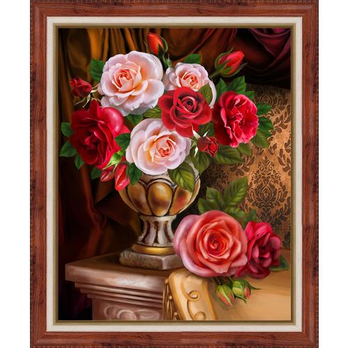 """Набор для выкладывания мозаики Алмазная живопись """"Благородные розы"""""""
