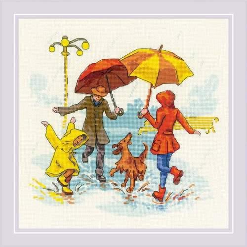 """Набор для вышивания крестом Риолис """"Нет плохой погоды"""" (фото)"""
