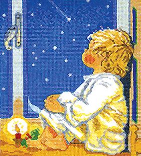 """Набор для вышивания крестом Eva Rosenstand """"Мальчик и звезды"""""""