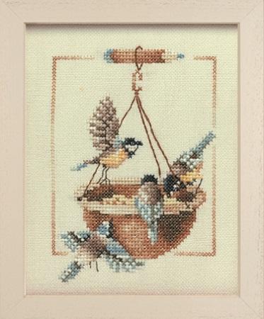 """Набор для вышивания крестом LANARTE """"Feeding Dish With Birds"""""""