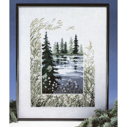 """Набор для вышивания крестом Oehlenschlager """"Лесное озеро"""""""