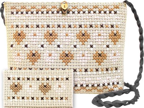 """Набор для вышивания крестом Luca-S """"Сумка Орнамент"""""""