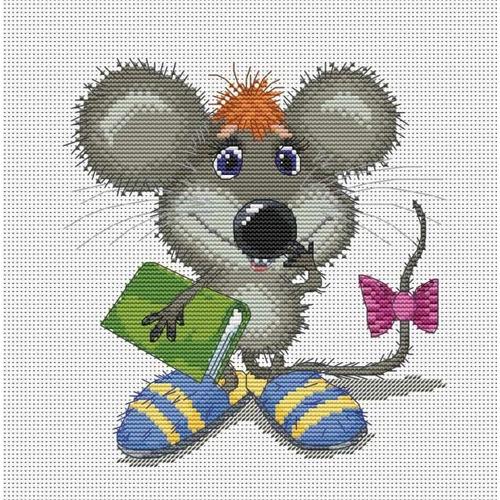 """Набор для вышивания крестом Белоснежка """"Ученый мышонок"""""""