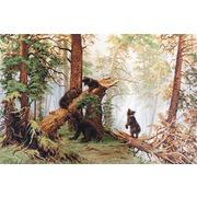 """Набор для вышивания крестом Luca-S """"Утро в сосновом лесу (И. Шишкин)"""""""