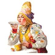 """Набор для вышивания крестом Чудесная игла """"Боярышня за чаем"""""""