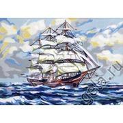 """Канва/ткань с нанесенным рисунком Gobelin-L """"На всех парусах"""""""