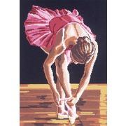 "Канва/ткань с нанесенным рисунком Gobelin-L ""Юная балерина"""