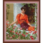 """Набор для вышивания крестом Luca-S """"Летние цветы"""""""
