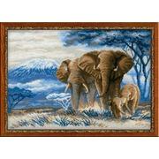 """Набор для вышивания крестом Риолис """"Слоны в саванне"""""""