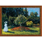 """Набор для вышивания крестом Риолис """"Дама в саду"""""""