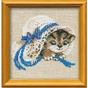 """Набор для вышивания крестом Риолис """"Котенок в шляпе"""""""