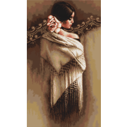 """Набор для вышивания крестом Luca-S """"Испанка с платком"""""""