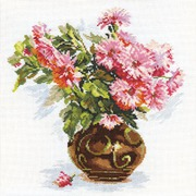 """Набор для вышивания крестом Алиса """"Цветущий сад. Хризантемки"""""""