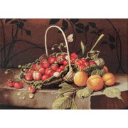 """Набор для вышивания крестом Luca-S """"Корзина с клубникой и персиками"""""""