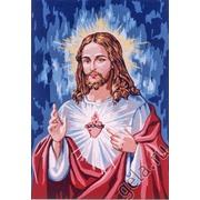 "Канва/ткань с нанесенным рисунком Gobelin-L ""Сердце Господа"""