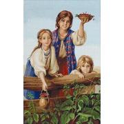 """Набор для вышивания крестом Luca-S """"Купите ягод (Платонов Х.)"""""""